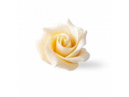 Čokoládová dekorácia Biela ruža 45x30mm 15ks (77490)