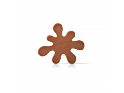 čokoládová dekorácia Škvrna mliečna čokoláda 50x45mm 195ks (77179)