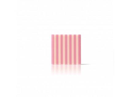Čokoládová dekorácia štvorec Domino blielo ružový 35x35mm 500ks
