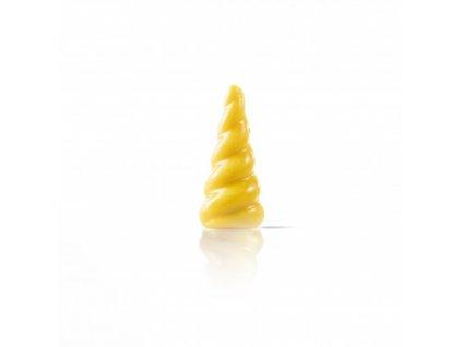78254 čokoládová dekorácia roh jednorožca žltý