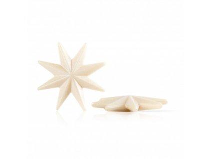 77336 čokoládová dekorácia strieborná hviezda