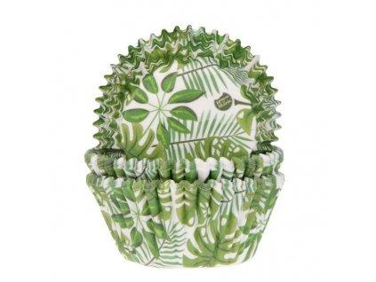 Košíčky na muffiny zelené listy 50ks