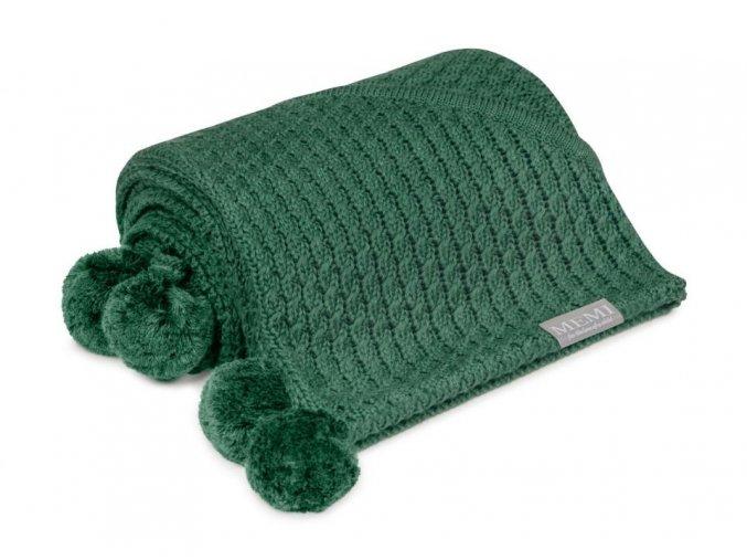 Bambusová deka s kapucí- zelená