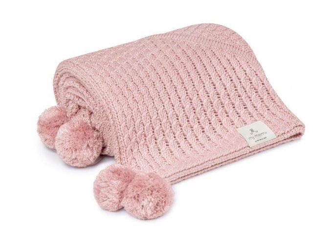Bambusová deka s kapucí- sv. růžová