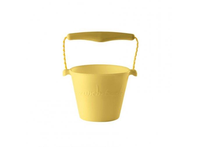 Silikonový kbelík na vodu a písek- žlutý