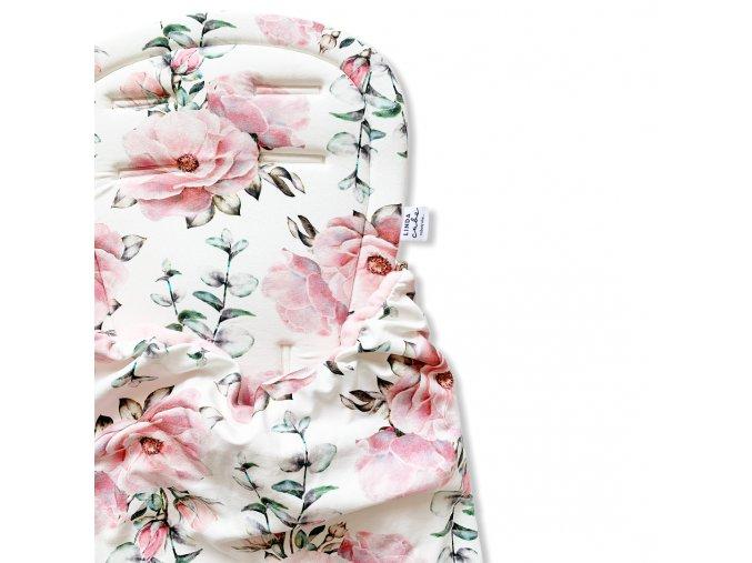 Podložka s dekou- Květiny na bílé