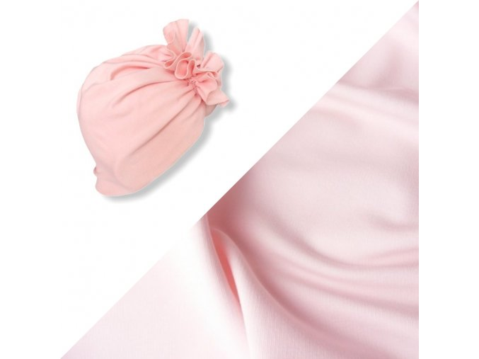 Turban- sv.růžový