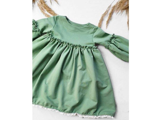 Úpletové šaty- Green