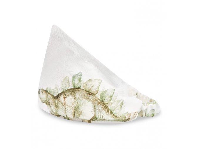 Bambusový šátek s gumičkou- dinosaurus