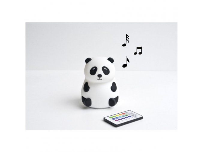 Lampa s reproduktorem- panda