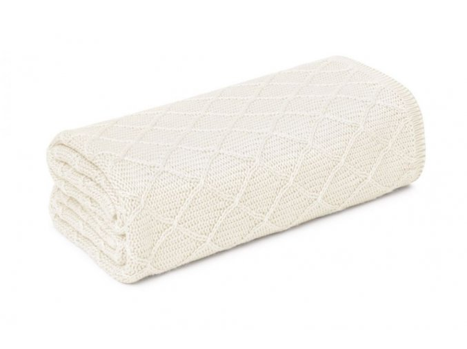Lehká letní bambusová deka- krémová