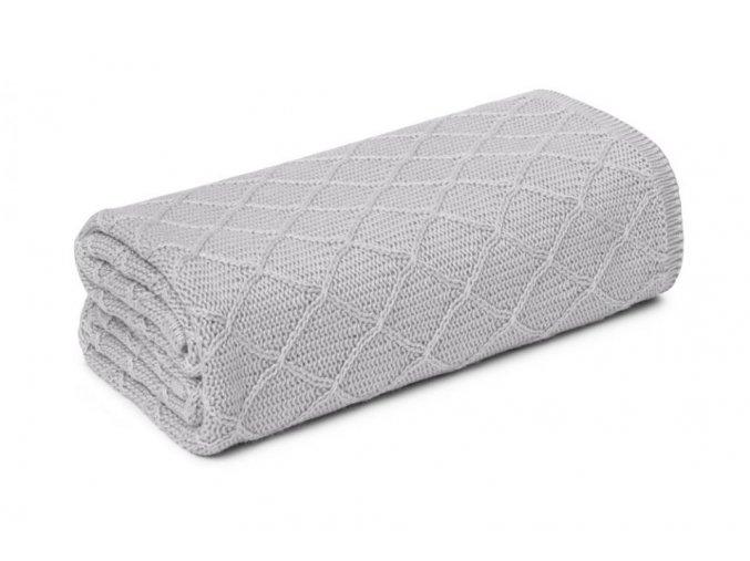 Lehká letní bambusová deka- šedá