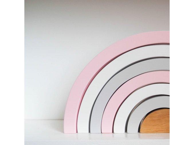 Dřevěná duha- Pink