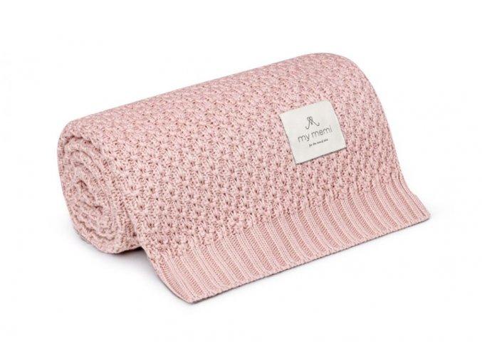 Bambusová deka Chain- pudrově růžová