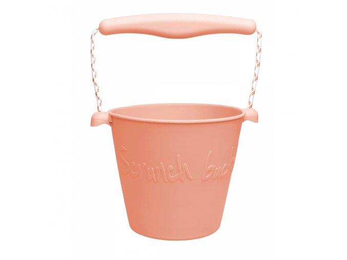 Silikonový kbelík na vodu a písek- Korálový