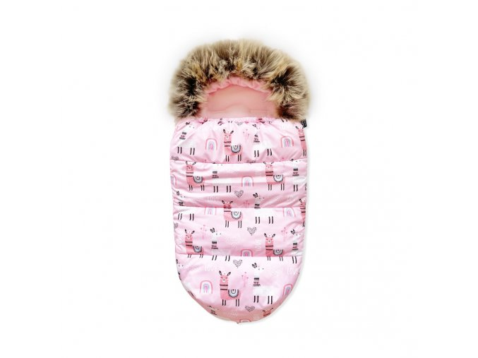Univerzální zimní fusak- lamy na růžové