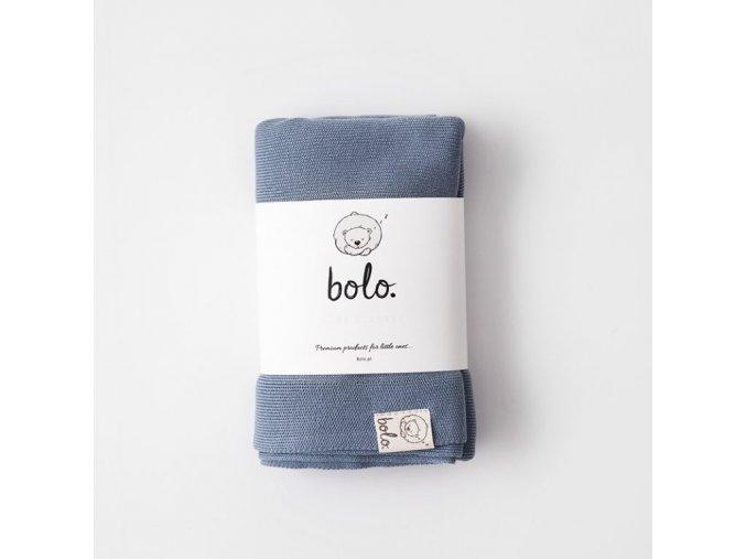 Lehká bambusová deka- modrá