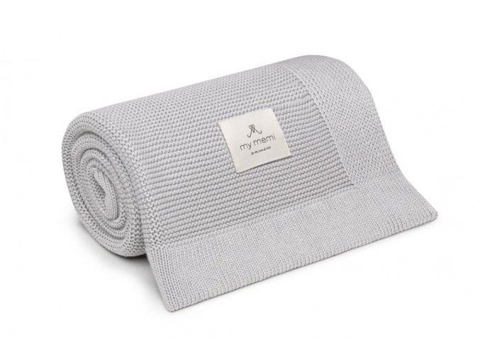 Bambusová deka- šedá