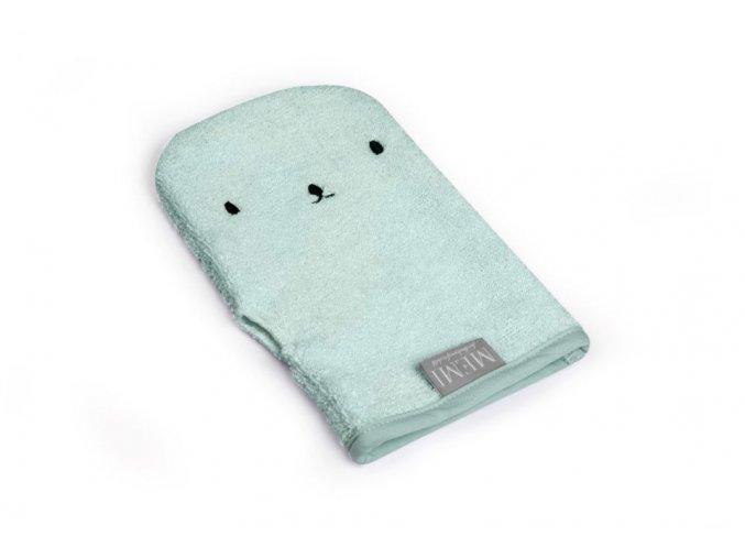 Bambusová koupací rukavice- mint