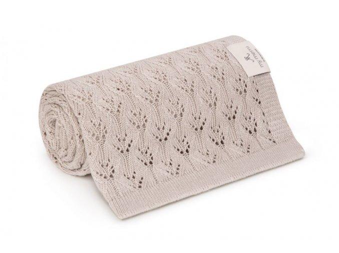 Bambusová deka- béžová