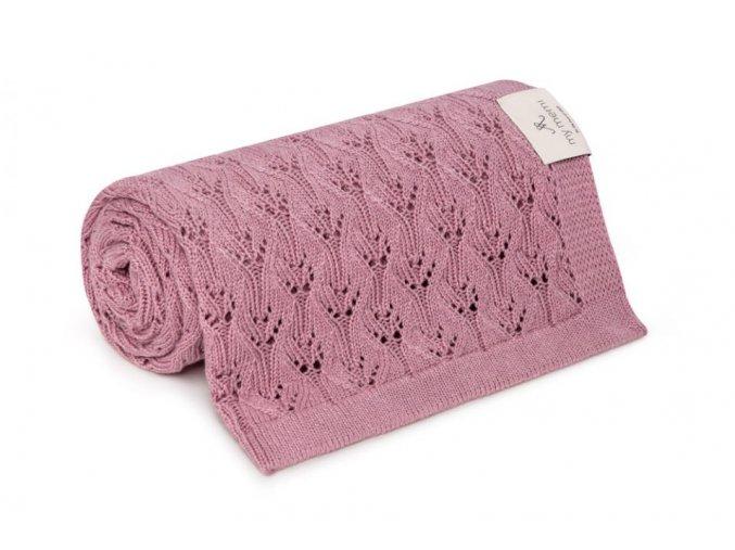 Bambusová deka- starorůžová