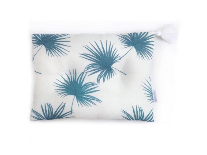 Bambusový polštář 25x35- modré listí