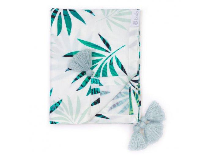 Bambusová přikrývka 80x100cm- zelené listí