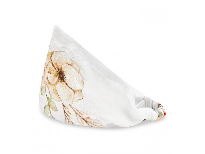 Bambusový šátek s gumičkou- Vintage květy