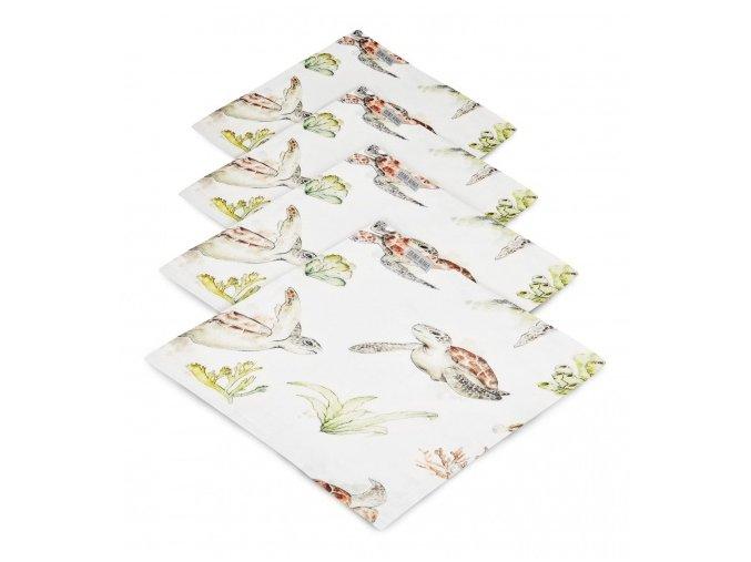 4- pack mušelínové plenky- Želvy
