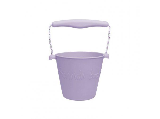 Silikonový kbelík na vodu a písek- Lila