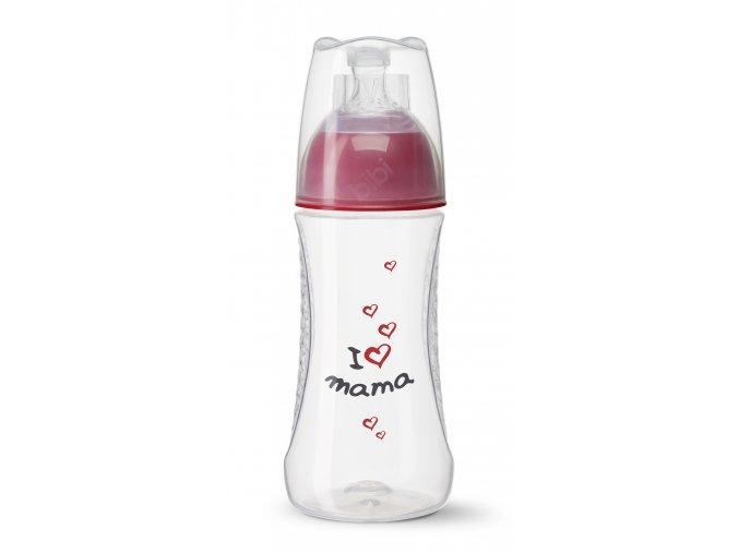 Antikoliková kojenecká láhev 260ml- I love mama