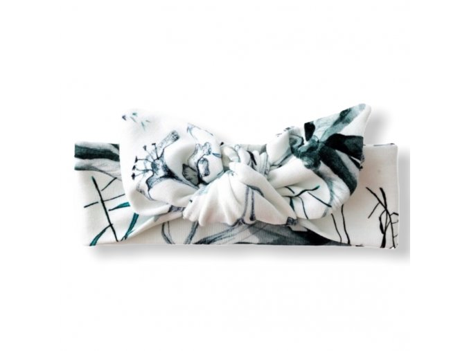 Čelenka s mašlí- Mrs. Snowflowers