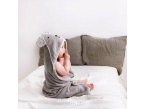 Bambusový ručník s kapucí- sv. šedý