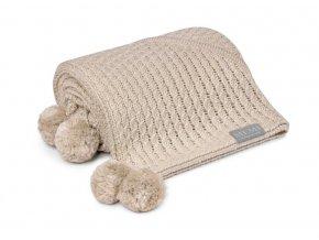 Bambusová deka s kapucí- béžová