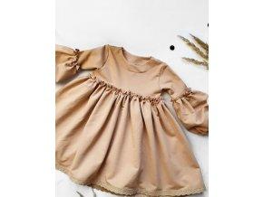 Úpletové šaty- Béžové