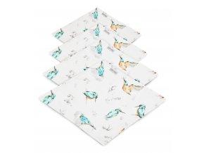 4- pack mušelínové plenky- ptáčci