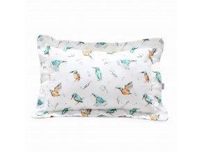 Bavlněný polštář- ptáčci