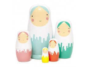 Dřevěné panenky Matrioška