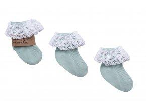 Ponožky s volánkem- mintové