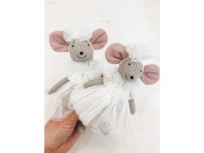 Handmade myška Bianka