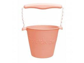 Silikonový kbelík na vodu a písek- Koral