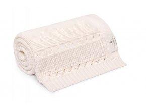 Deka z organické bavlny- smetanová