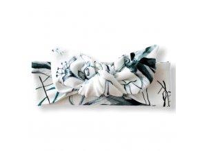 Čelenka s mašlí- Mrs. Snowflowers (Velikost Dospělá)