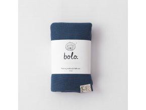 Lehká bambusová deka- tmavě modrá