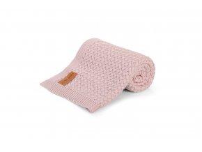 Bambusová pletená deka- pudrová