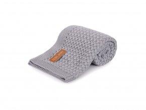 Bambusová pletená deka- šedá