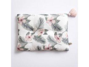 Bambusový polštář 25x35- květy