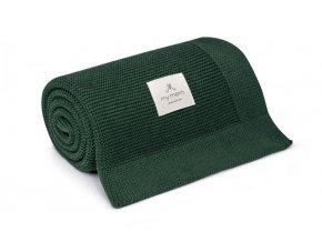 Bambusová deka- lahvově zelená