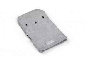 Bambusová koupací rukavice- šedá