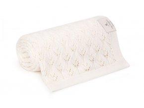 Bambusová deka- krémová